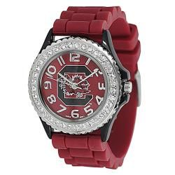 Geneva Womens Platinum Rhinestone South Carolina Gamecocks Watch