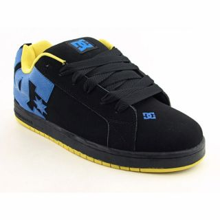 DC Shoe Co USA Mens Court Graffik Black/Bright Yellow Skate Shoes