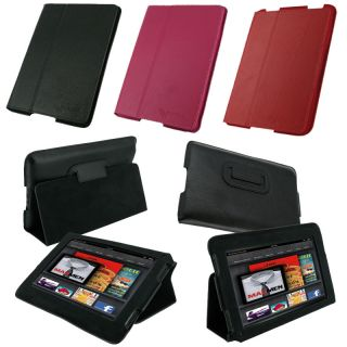 rooCASE Kindle Fire Ultra Slim Leather Case Cover Stand
