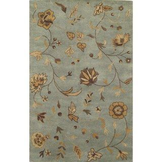 Light Blue Kas Capri 26x8 Transitional Runner Area Rug