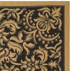 Indoor/ Outdoor Black/ Natural Rug (27 x 5)