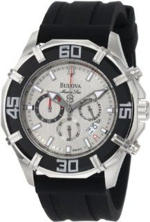 Bulova Mens 96B152 Solano Marine Star Rubber Strap Watch Watches