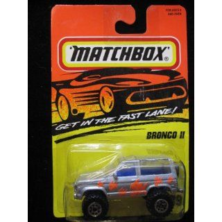 Ford bronco ll (silver) Matchbox Super Fast Series #39