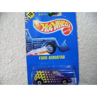 Hot Wheels Ford Aerostar #151 All Blue Card Purple with 5