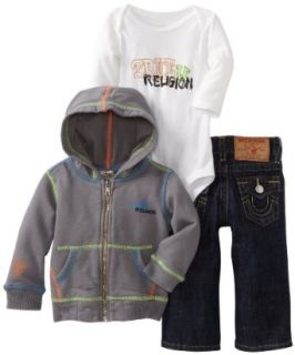 True Religion Baby boys Infant 3 piece Gift Box Set