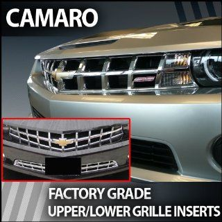 2010 2013 Chevy Camaro Chrome Grille Upper/Lower