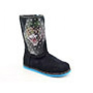 Youth Kids Girlss Bootstrap 100 Black Boots (Size 1)