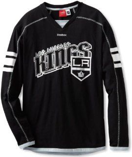 NHL Los Angeles Kings Long Sleeve Jersey T Shirt, Medium