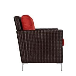 angeloHOME Napa Springs Tulip Red Chair Indoor/Outdoor Wicker