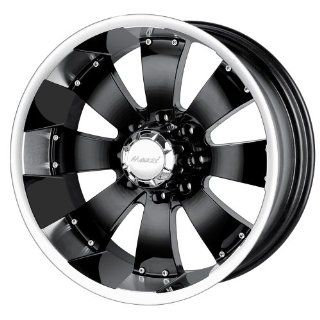 17x10 Mazzi Hulk (755) (Black w/ Machined Lip) Wheels/Rims 8x165.1