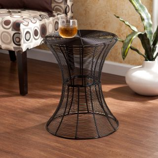 Kayden Indoor/ Outdoor Black Metal Accent Table Today $69.99