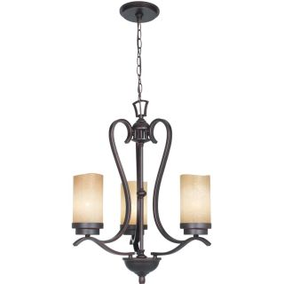 Indoor 3 light Old Bronze Mini Chandelier