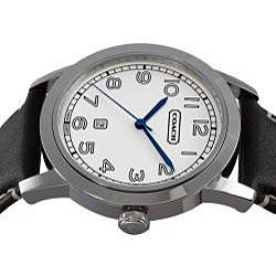 Coach Mens Bleecker Black Leather Watch