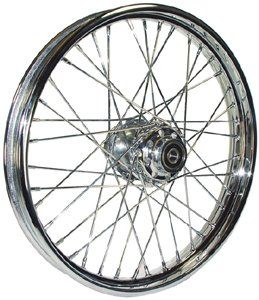 Bkrider Complete 40 Spoke 21 X 2.15 Chrome Front Wheel For Harley