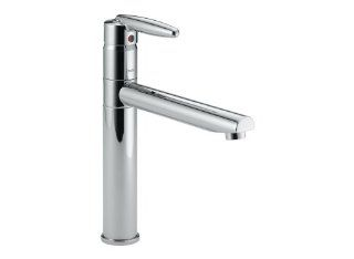 Delta Faucet 185 Grail Single Handle Kitchen Faucet, Chrome