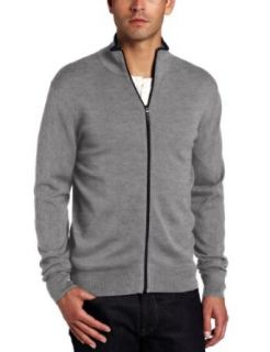 Michael Kors Mens Long Sleeve Tipped Full Zip Clothing