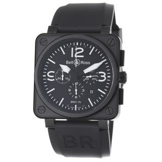 Bell & Ross Mens Avation Black Dial Chronograph Automatic Watch