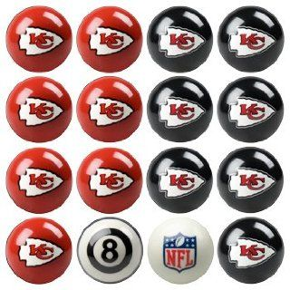 Kansas City Chiefs NFL Home vs. Away Billiard Balls Full