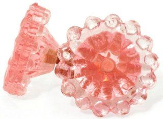 Pink Cottage Decor Glass Cabinet Knobs (8pc) Drawer Pulls & Handles