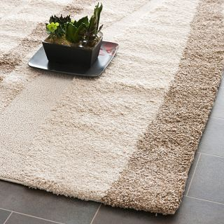 woven ultimate cream dark brown shag rug 5 3 x 7 6 today $ 139 99 sale