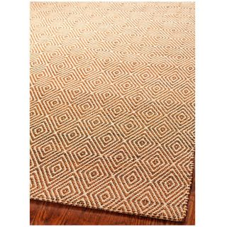 Handmade South Hampton Zag Gold Rug (5 x 8)