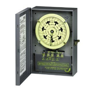 Intermatic T7402B 4PST 208/277 Volt 7 Day Mechanical Time Switch with