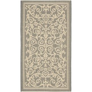 Safavieh Grey/ Natural Indoor Outdoor Rug (2 x 37)
