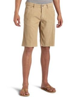 Lucky Brand Mens 221 Slim Cut Off Shorts, Khaki, 30
