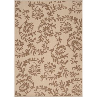 Londonderry Beige Floral Indoor/Outdoor Rug (36 x 56)