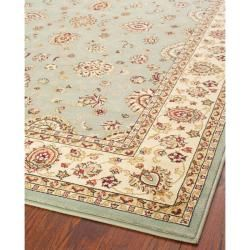 Majesty Extra Fine Light Blue/ Cream Rug (53 x 76)