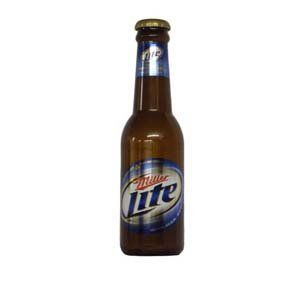 21 Tall Miller Lite Beer Lovers Drinking Bottle Shaped