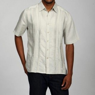 Visitor Mens Pleated Linen Blend Shirt