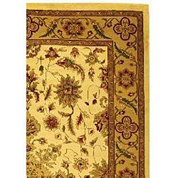 Lyndhurst Collection Ohsak Ivory/ Tan Rug (6 x 9)