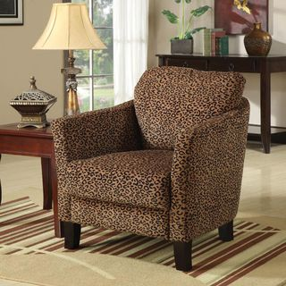 Leopard Print Accent Club Chair