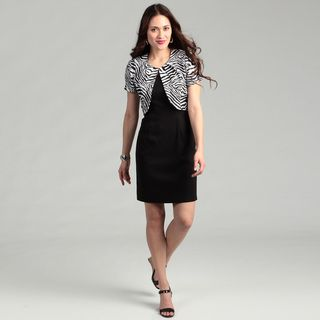 Connected Apparel Womens Black 2 piece Dress