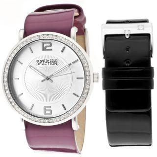 Kenneth Cole Reaction Womens Purple Genuine Leather Watch
