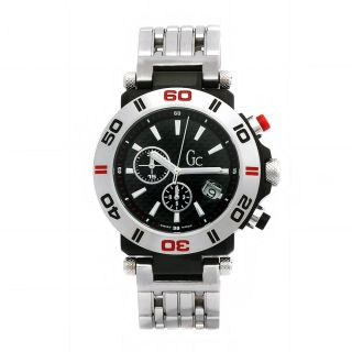Guess Collection Mens Sport Stainless Steel Chronograph Swiss Quartz