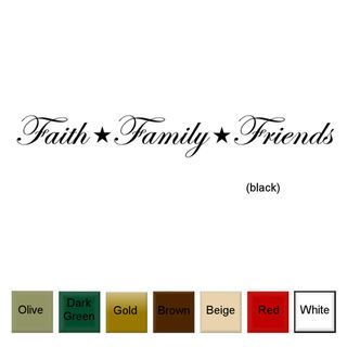 Faith, Family, Friends Vinyl Wall Art Decal