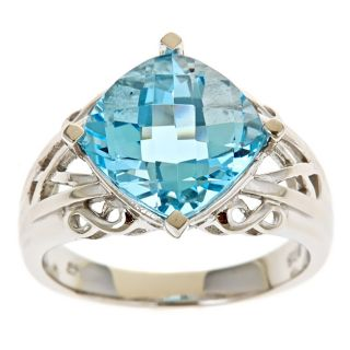 Yach Sterling Silver Blue Topaz Ring